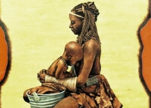 mother and baby himba